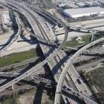 Los Angeles Freeway Interchange Aerial — Stock Photo #25486403