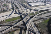Los Angeles Freeway Interchange Aerial — Stock Photo