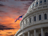 Sunset Sky over US Capitol Building — Stock Photo