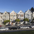 Alamo Square Victorians San Francisco — Stock Photo