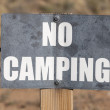 No Camping Sign — Stock Photo #25545145