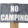 No Camping Sign Isolated — Stock Photo #25580097
