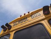 Detalhe do sinal de ônibus escolar — Fotografia Stock