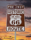 Old Route 66 New Mexico Sign with Sunrise Sky — Stock Photo
