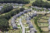 Modern Suburb Aerial — Stock Photo