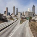 Downtown Atlanta Empty Highway — Stock Photo