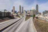 Downtown Atlanta Empty Highway — Stock Photo