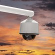 Outdoor Security Camera with Sunset Sky — Stockfoto #26780355