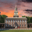 Stock Photo: Independence Hall PhiladelphiSunset