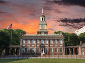 Independence Hall Philadelphia Sunset — Stock Photo