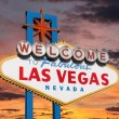 Welcome to Las Vegas Sign with Sunset Sky — Stock Photo