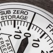 Stock Photo: Sub Zero Storage Refrigerator Thermometer