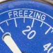 Stock Photo: Vintage Refrigerator Thermometer Freezing Zone Detail