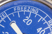 Vintage Refrigerator Thermometer Freezing Zone Detail — Stock Photo