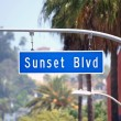 Sunset Blvd Sign in Hollywood California — Stock Photo