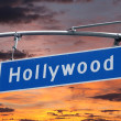 Hollywood Blvd Sign with Sunset — Stock Photo #27926299