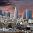 Los Angeles Downtown Sunset — Stock Photo