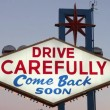 Drive Carefully Sign — Stock Video #29767621