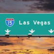 Interstate 15 to Las Vegas, Nevada — Stock Photo