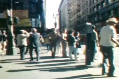 Broadway Time Lapse - Los Angeles 1988 — Stock Video