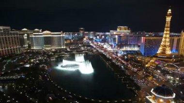 Las Vegas Fountains Night View — Stock Video