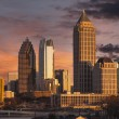 Atlanta Georgia Sunset Skyline — Stock fotografie