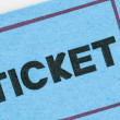 Stock Photo: Blue Ticket Stub Macro Detail