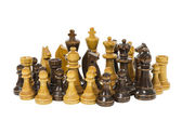Vintage Wooden Chess Pieces — Stock Photo