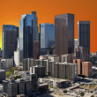 Orange Sunset Sky Los Angeles Downtown — Stock Photo