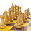 Stock Photo: Vintage Chess Set Line Up