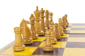 Vintage Chess Set Line Up — Stock Photo
