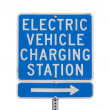 Electric Vehicle Charging Station Sign Isolated — Stock Photo #32357493