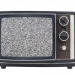 Stock Photo: Static Screen Vintage Portable Television