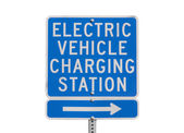 Electric Vehicle Charging Station Sign Isolated — Stock Photo