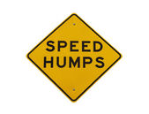 Speed Humps Road Sign isolated — Stock Photo