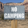 No Camping Sign — Stock Photo #33544015