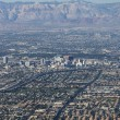 Stock Photo: Downtown Las Vegas Editorial Aerial