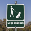 Dogs on Leash Sign — Stock Photo