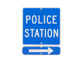 Police Station Sign Isolated — Stockfoto