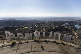 Hollywood Sign City View — Stock Photo