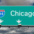Chicago - Interstate 94 Sign Time Lapse — Stock Video #36171223