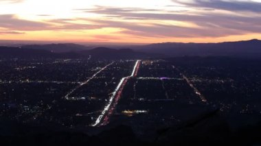 Simi Valley Dusk Time Lapse — Stock Video
