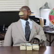 Puppet takes the cash — Stock Video