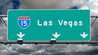 Las vegas interstate 15 fwy teken time-lapse — Stockvideo