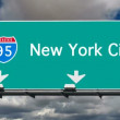 New York City - Interstate 95 Sign Time Lapse — Stock Video