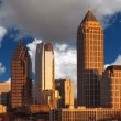 Atlanta Georgia with Time Lapse Clouds — Wideo stockowe