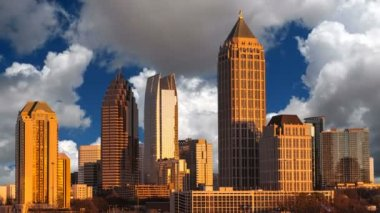 Atlanta Georgia with Time Lapse Clouds — Stock Video