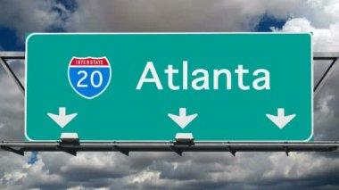 Atlanta - Interstate 20 Sign Time Lapse — Stock Video