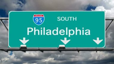 Philadelphia - Interstate 95 Sign Time Lapse — Stockvideo
