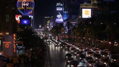Las Vegas Strip Traffic Jam — Stock Video